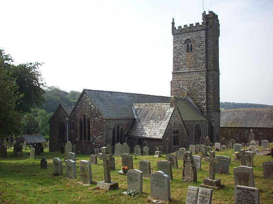 The north and east side of St. Peter's Church, Meavy