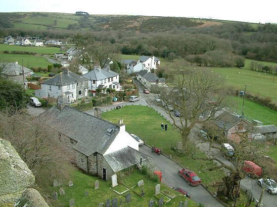 Village of Meavy from the top of the church tower.